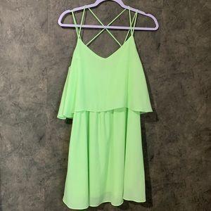Nymphe Neon Green Summer Dress